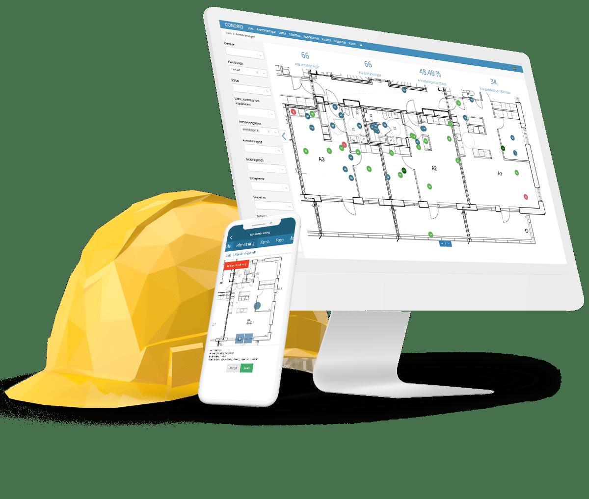 Anmärkningar Det enklaste verktyget för att hantera alla projekt under alla byggarbetsfaser