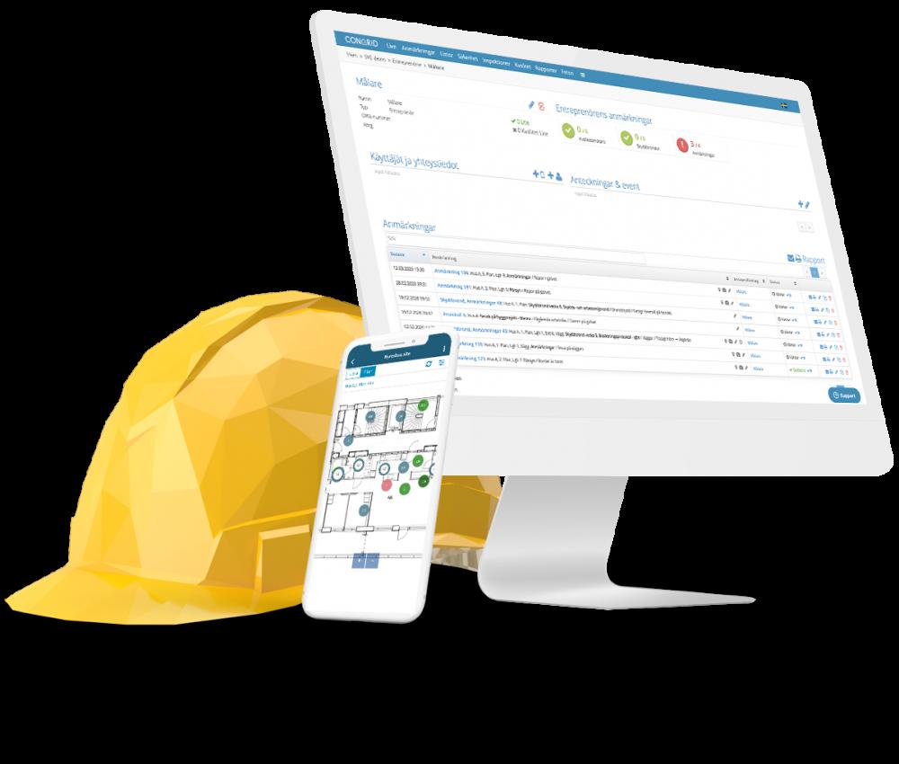 CongridLITE® Underentreprenörer som används för kvalitetssäkring och säkerhetshantering
